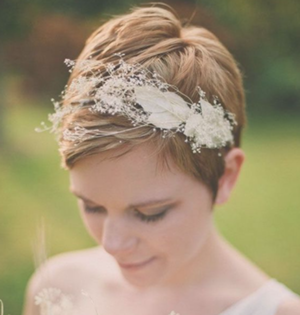 Wedding Hairstyle Magazine: STUNNING BRIDAL STYLES FOR SHORT HAIR